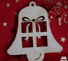 Drevený výsek Vianočný zvonček