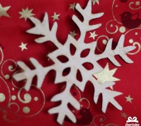 Drevený výsek Vianočná vločka