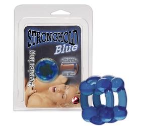 You2Toys Stronghold Blue - krúžok na penis modrý
