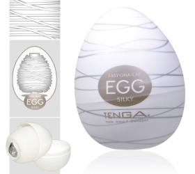 TENGA Egg Silky vajíčko na orgazmus (masturbátor)