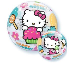 Balón Q Bubbles Hello Kitty BDay