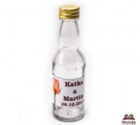 Svadobná fľaštička s alkoholom 40 ml SF02