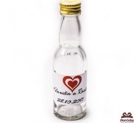 Svadobná fľaštička s alkoholom SF09