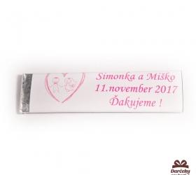 Svadobné žuvačky pre potešenie svadobných hostí SZ27