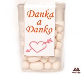Dražé cukríky pre potešenie svadobných hostí DC03