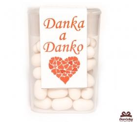 Dražé cukríky pre potešenie svadobných hostí DC08