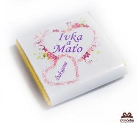 Svadobná mini čokoládka SC07