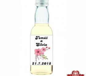 Svadobná fľaštička s alkoholom 40 / 50 ml SF32