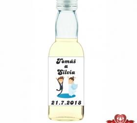 Svadobná fľaštička s alkoholom 40 ml SF25