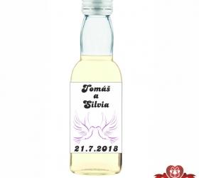 Svadobná fľaštička s alkoholom 40 ml SF69