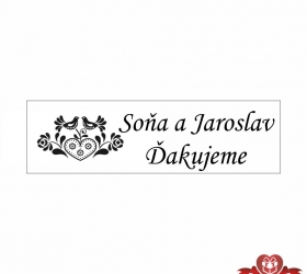 Svadobné žuvačky pre potešenie svadobných hostí SZ107