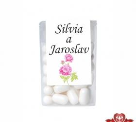 Dražé cukríky pre svadobných hostí, motív S015