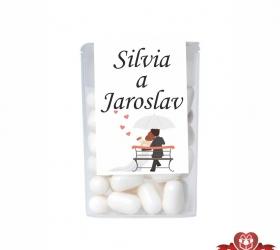 Dražé cukríky pre svadobných hostí, motív S017