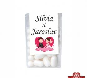 Dražé cukríky pre svadobných hostí, motív S018