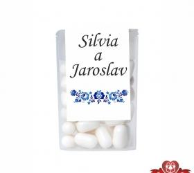 Dražé cukríky pre svadobných hostí, motív S019