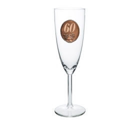 Foto 60  rokov Pohár na sekt a šampanské kovová etiketa