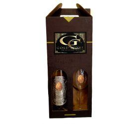 60  rokov Darčekový vínny set šumivé s 23 karátovým zlatom - pohár
