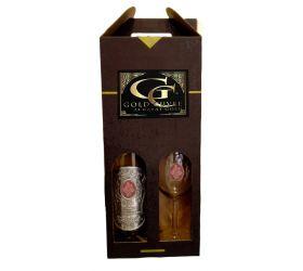 25,35,45,55,65,80 rokov Darčekový vínny set šumivé s 23 karátovým zlatom - pohár