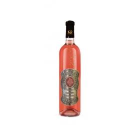 00  Rokov - Darčekové Ružové so zlatom  0,7  Kovová etiketa