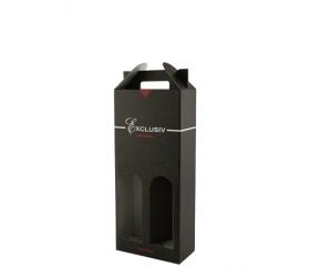 Box na víno exlusive čierna 2 fl.