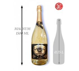 Foto 1,5  L Gold Cuvee šumivé víno so zlatom Najlepší hasič