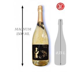 Foto 1,5  L Gold Cuvee šumivé víno so zlatom Najlepší rybár