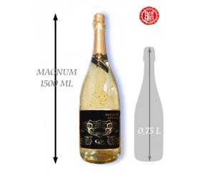 Foto 1,5  L Gold Cuvee šumivé víno so zlatom Najlepší učiteľ
