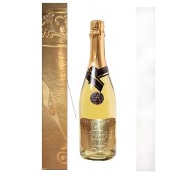 0,75l Gold Cuvee šumivé víno so zlatom Pozlátená etiketa kovová