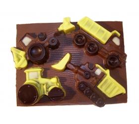 Stavebné autá set čokolády