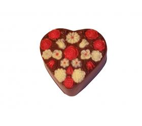 Bonbonierka čokoládové srdce plnené