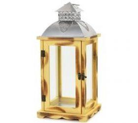 Lampáš drev/kov sv.hnedá 19x19x42,6 cm