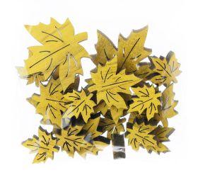 Dekor. listy javor zelené s/18 2,5-5cm