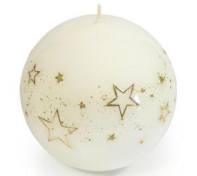Biele hviezdy guľa 100 bie