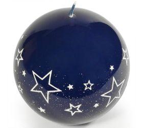 Biele hviezdy guľa 100 modra