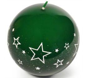 Biele hviezdy guľa 100 zelená