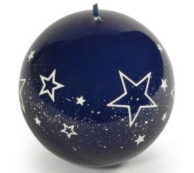 Biele hviezdy guľa 80 modra
