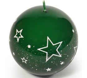 Biele hviezdy guľa 80 zelená