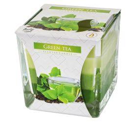 Voň.v skle trikolóra zel čaj