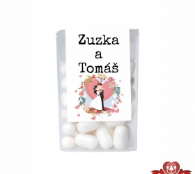Dražé cukríky pre svadobných hostí, motív S101