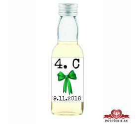 Maturitná fľaštička s alkohol - zelená stužka - 29