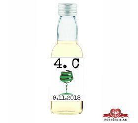 Maturitná fľaštička s alkohol - zelená stužka - 26