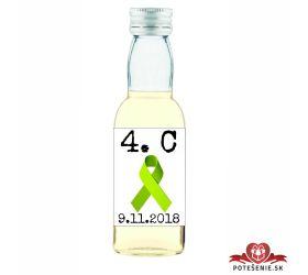 Maturitná fľaštička s alkohol - zelená stužka - 25