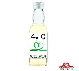 Maturitná fľaštička s alkohol - zelená stužka - 23