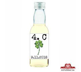 Maturitná fľaštička s alkohol - zelená stužka - 18