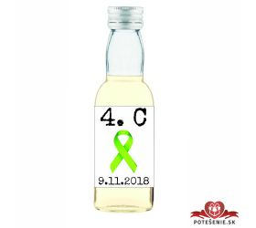 Maturitná fľaštička s alkohol - zelená stužka - 17