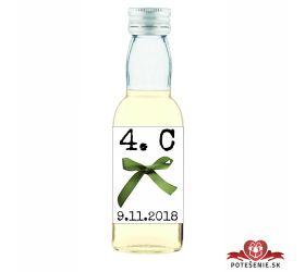 Maturitná fľaštička s alkohol - zelená stužka - 15