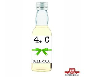 Maturitná fľaštička s alkohol - zelená stužka - 14