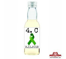 Maturitná fľaštička s alkohol - zelená stužka - 12