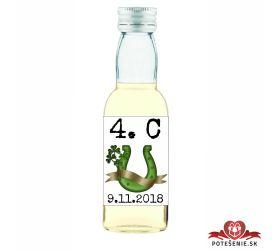 Maturitná fľaštička s alkohol - zelená stužka - 11