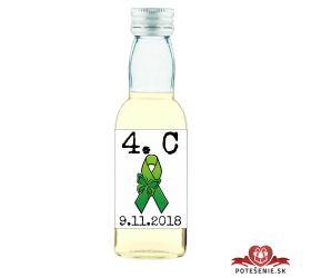 Maturitná fľaštička s alkohol - zelená stužka - 10